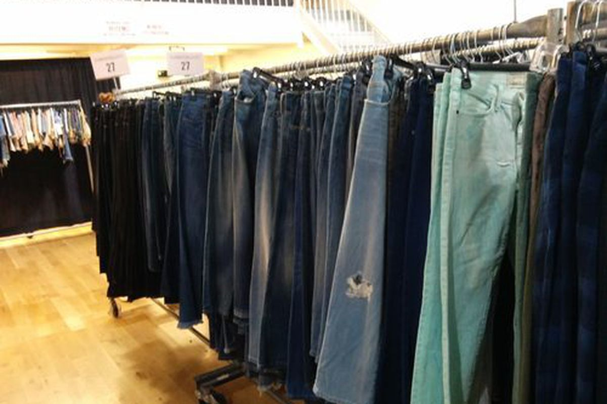 Denim at the Equipment, Joie, and Current/Elliott sample sale yesterday