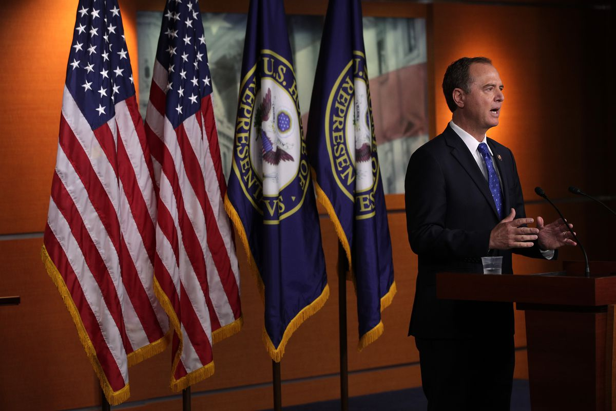 U.S. Rep. Adam Schiff (D-CA), chairman of the House Intelligence Committee, speaks during a news conference at the U.S. Capitol September 25, 2019 in Washington, DC.