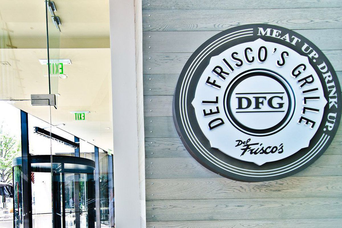 Outside the Del Frisco's Grille in 2012