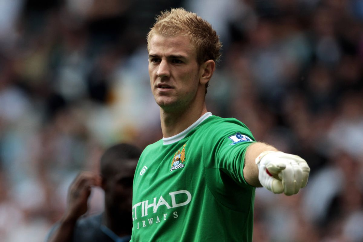 LONDON, ENGLAND - AUGUST 14. Joe Hart in action during the Premier League game between Tottenham Hotspur and Manchester City at White Hart Lane. (Picture by Neil Cole/Getty Images)