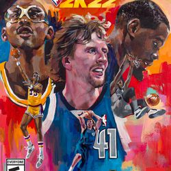 Charly Palmer also painted the cover for <em>NBA 2K22</em>'s NBA 75th Anniversary Special Edition.