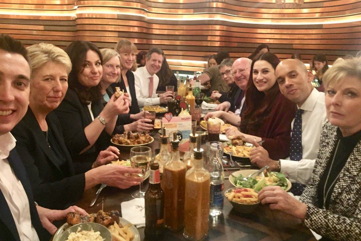 The Independent Group ate at Nando's restaurant before getting on with Brexit