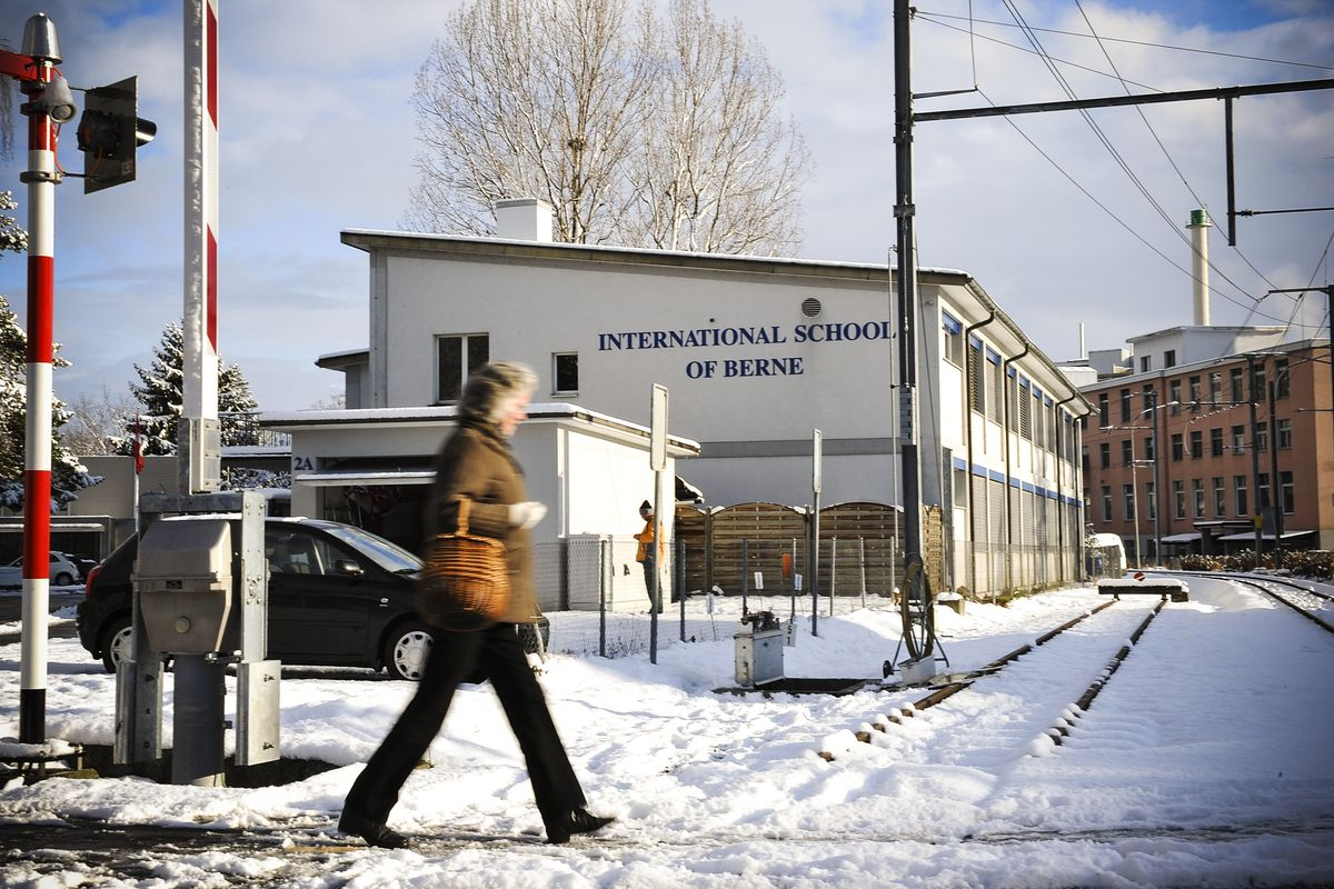One of the buildings in the international school Bern in Guemlingen near Bern, Switzerland, the private English-language school, where Kim Jong Un went to school until 1998, depicted on December 19, 2011.