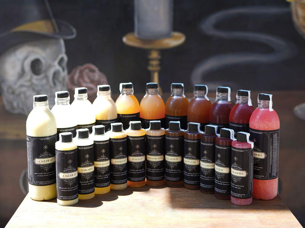 Roosevelt Room's bottled cocktails