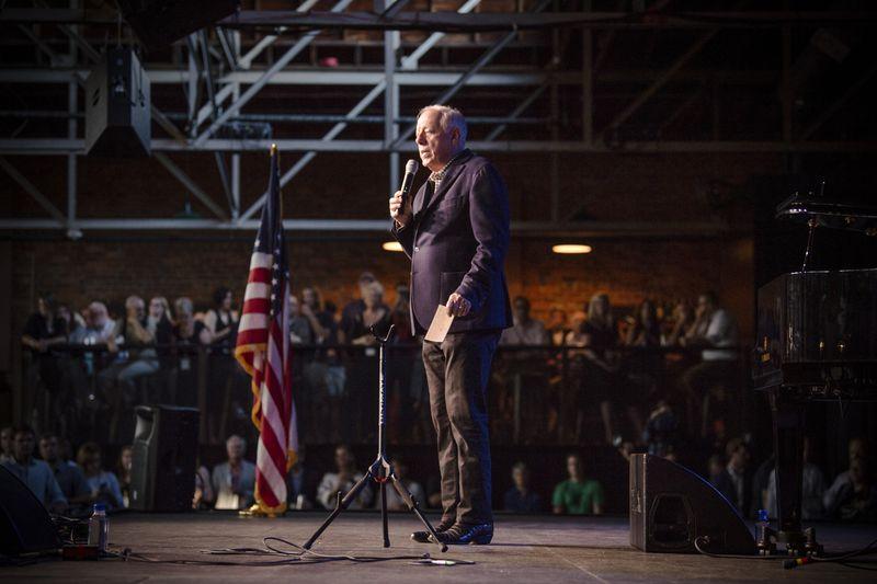 Phil Bredesen onstage at Marathon Music Works,  in Nashville, Tennessee, on August 20, 2018.
