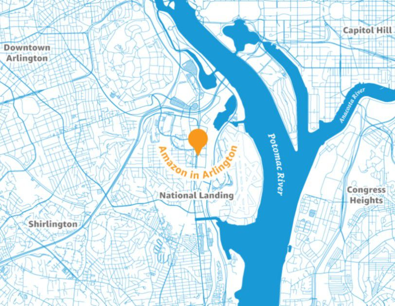 Crystal City Map Amazon picks Northern Virginia's Crystal City for HQ2 site: what