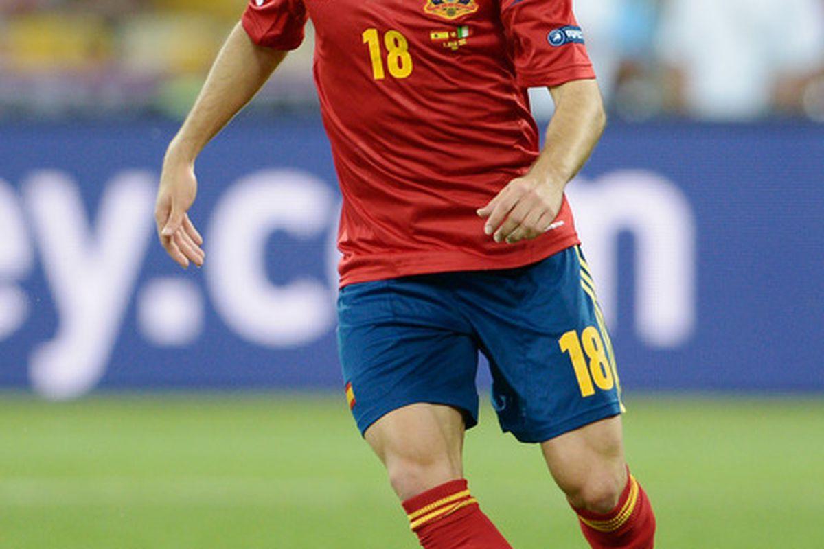 Looks like we'll have to settle for more Jordi in <em>La Roja</em> colors.