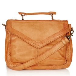 """Appears worn in, like you've already had it for years. Topshop <a href=""""http://us.topshop.com/en/tsus/product/bags-accessories-1702229/bags-wallets-70517/satchels-70683/brogue-leather-satchel-2151486?refinements=category~[210033