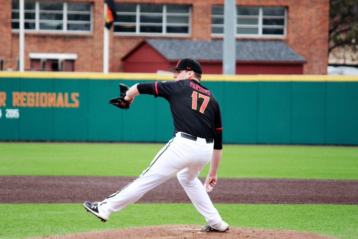 Maryland baseball Hunter Parsons vs. Maine