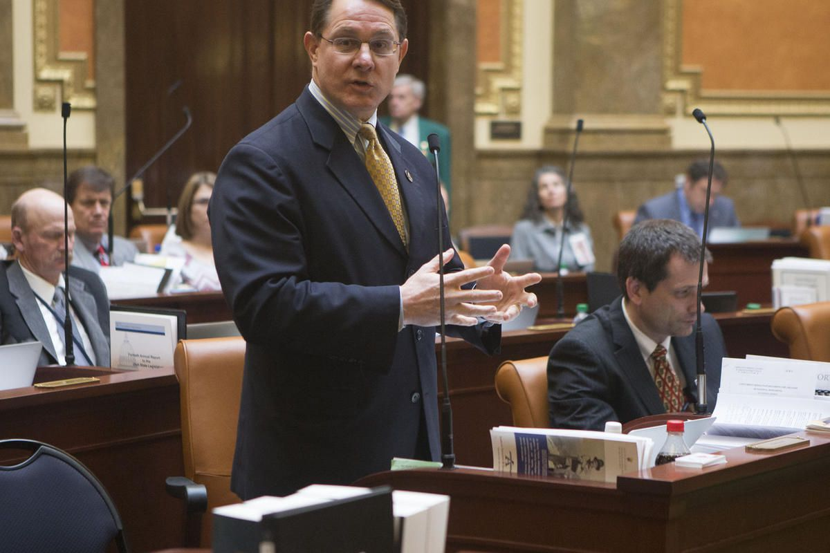 FILE: Representative Ken Ivory speaks in the Utah House of Representatives in 2015. On Monday, Jan. 30, 2017, Ivory presented to the House Public Utilities, Energy and Technology Committee a bill meant to modernize the reimbursement models for doctors who