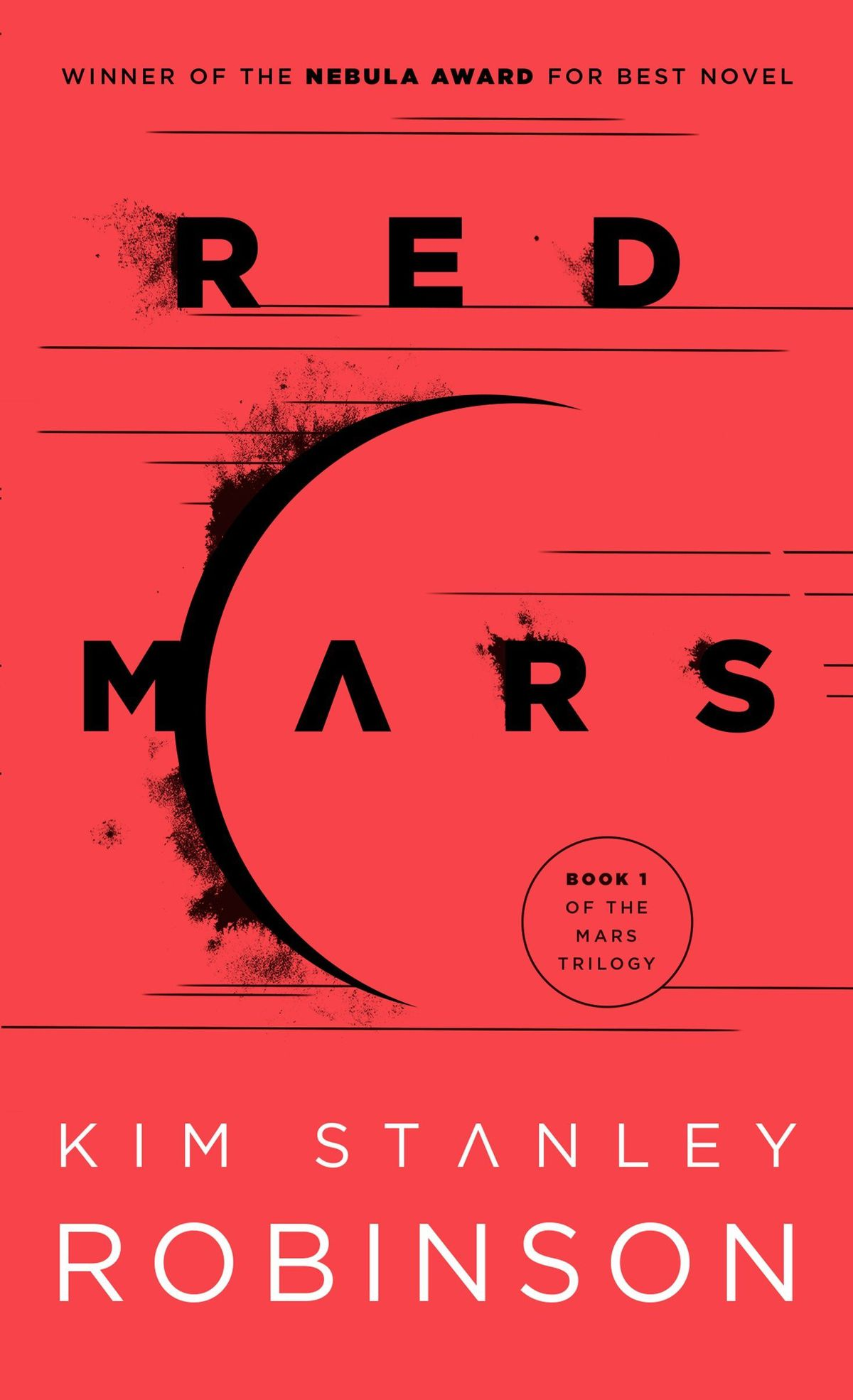 The cover of Kim Stanley Robinson's Red Mars