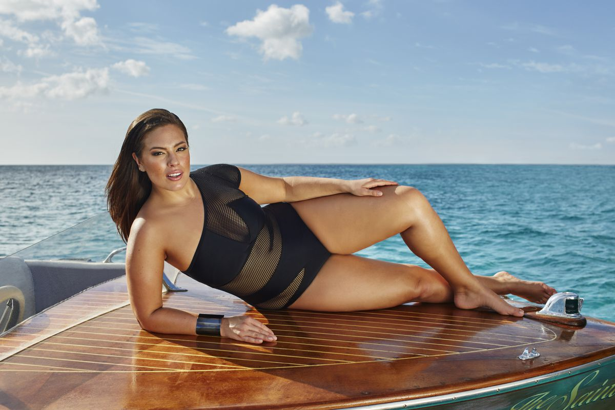 6f944c6b1a43 Ashley Graham-Designed Plus-Size Swimsuits Feature String, Cut-Outs, and  Body Jewelry
