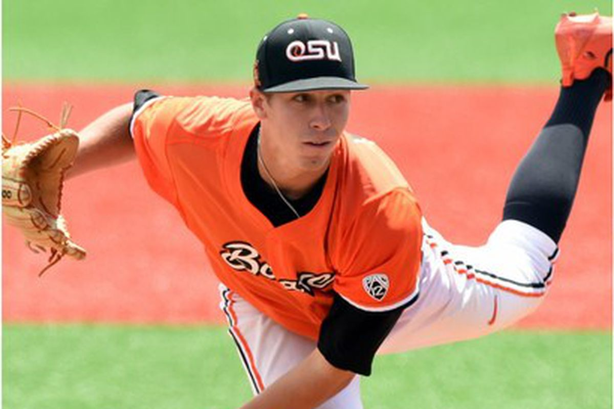 Luke Heimlich accomplished a number of firsts on Sunday, and that earned him his first Pac-12 Pitcher of the Week award.