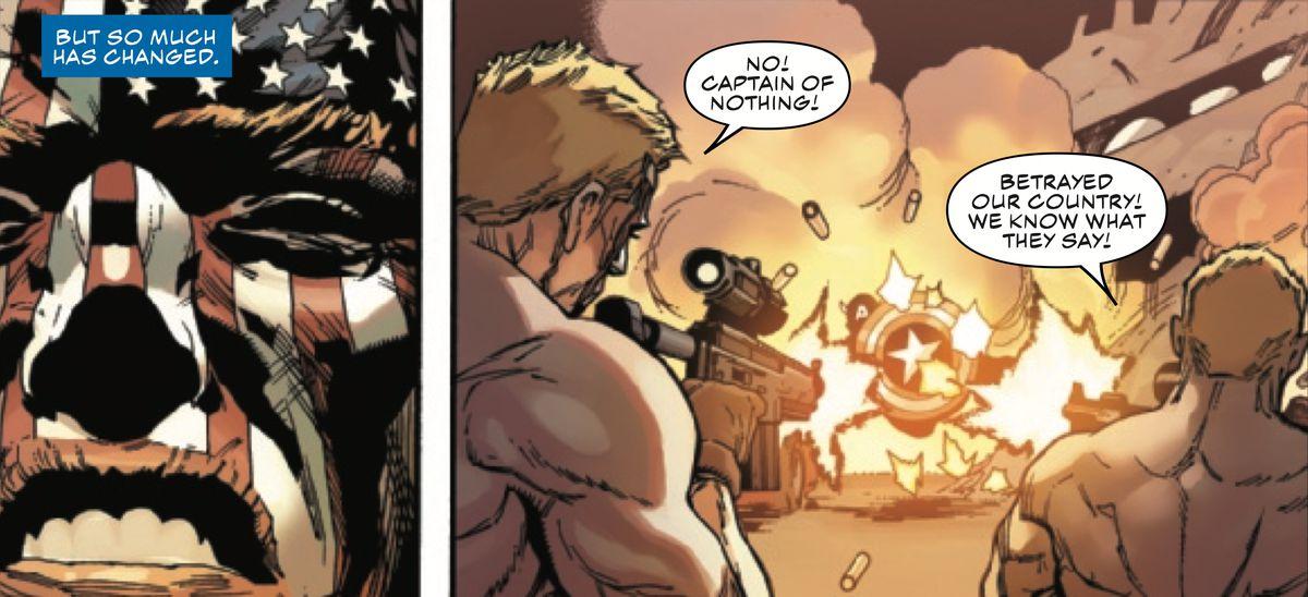 美国队长#1面对Cap作为法西斯主义者的时间