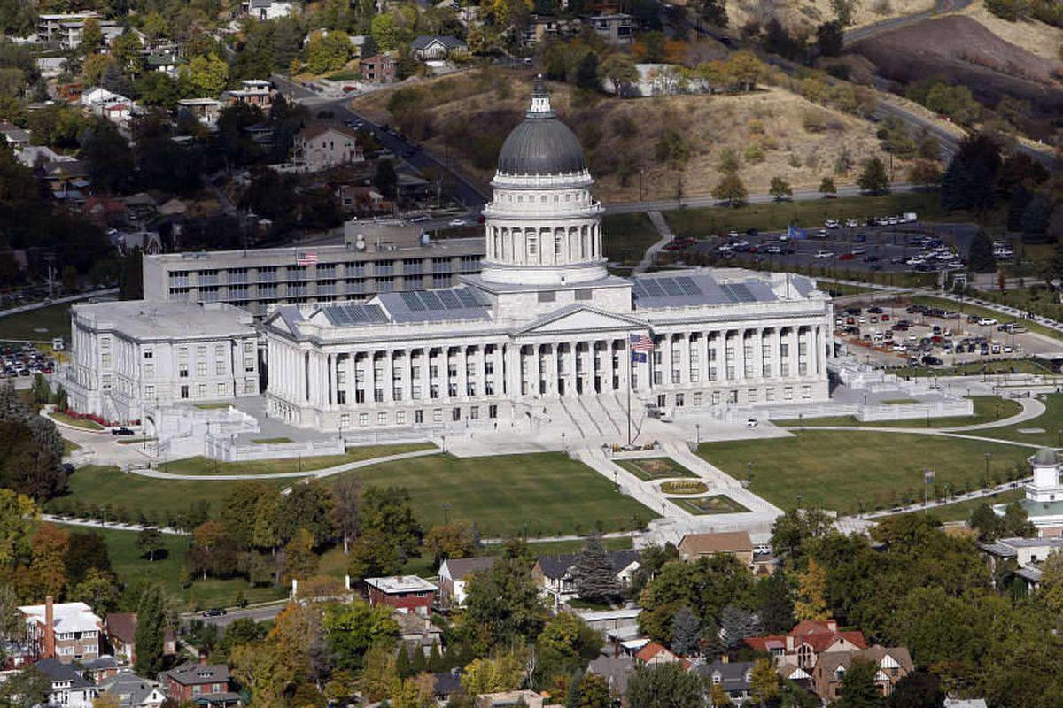 Utah State Capitol Building in Salt Lake City, Utah, Monday, Oct. 25, 2010.