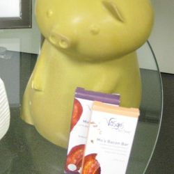 Jonathan Adler pig with Vosges chocolate-bacon bars, $98