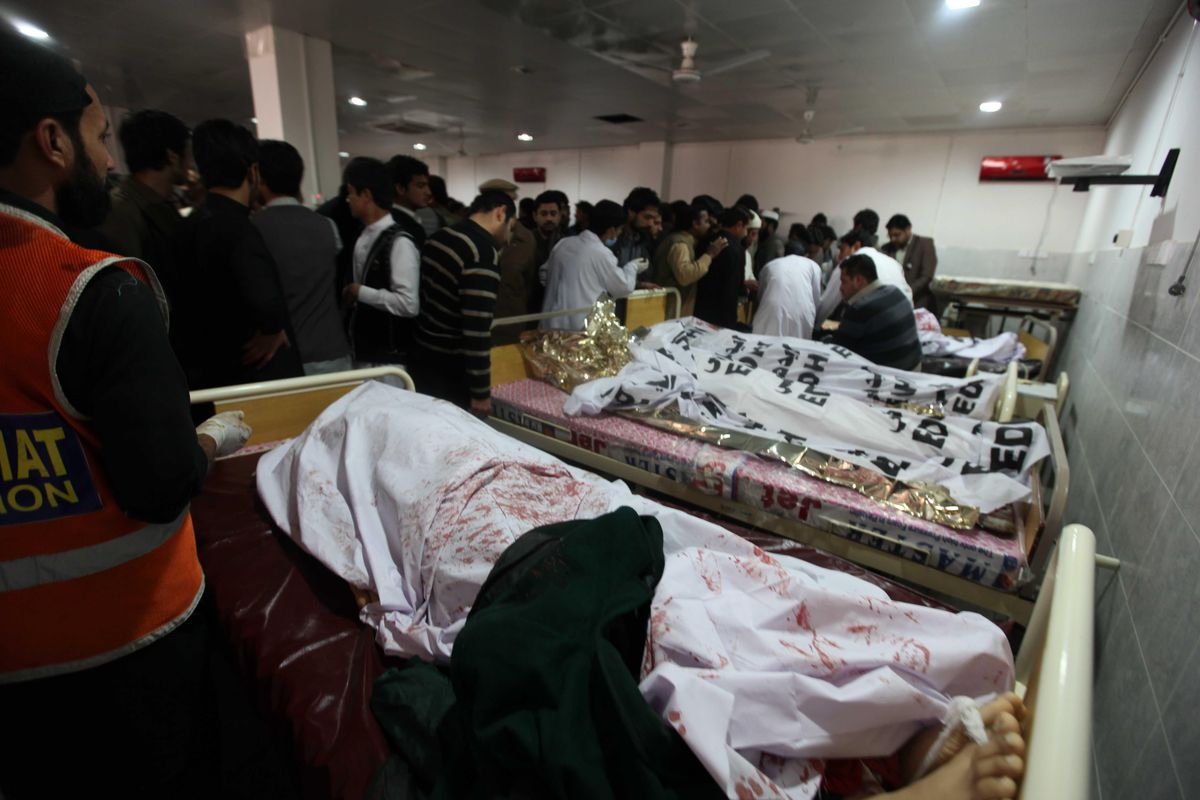 Victims of the Pakistani Taliban's attack on the Army Public School and Degree College in Peshawar
