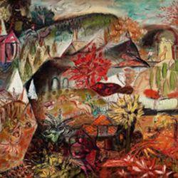 "Louis Goodman Ferstadt, <i>Fanciful Landscape</i>. <i>[<a href=""http://www.askart.com/askart/f/louis_goodman_ferstadt/louis_goodman_ferstadt.aspx"" rel=""nofollow"">Photo</a>]</i><br />"