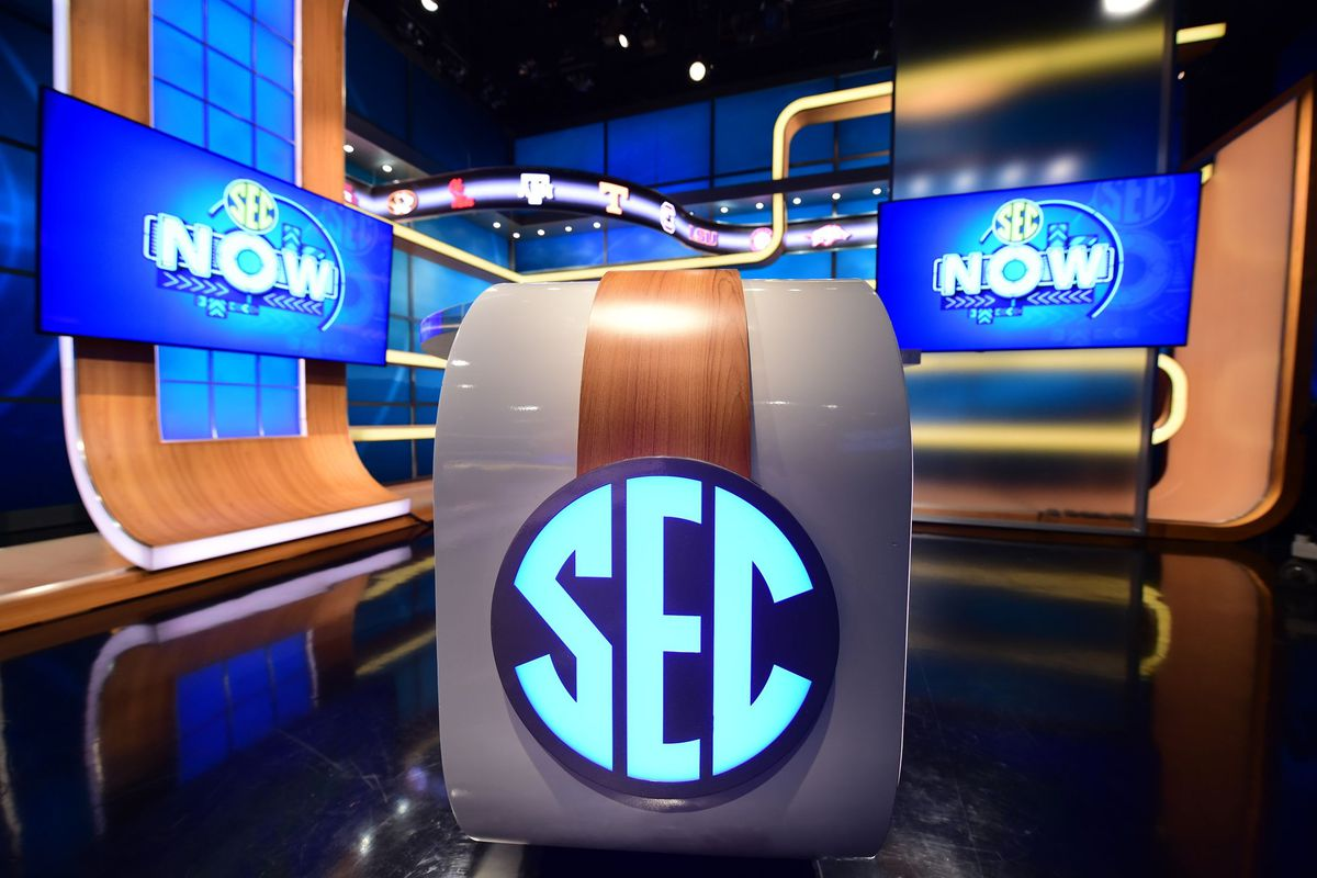 A portion of the SEC Now studio
