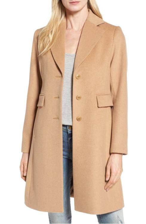 A camel coat