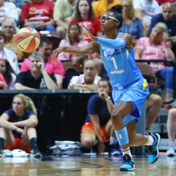 The Chicago Sky take on the Connecticut Sun in a WNBA game at Mohegan Sun Arena in Uncasville, CT on August 12, 2018.