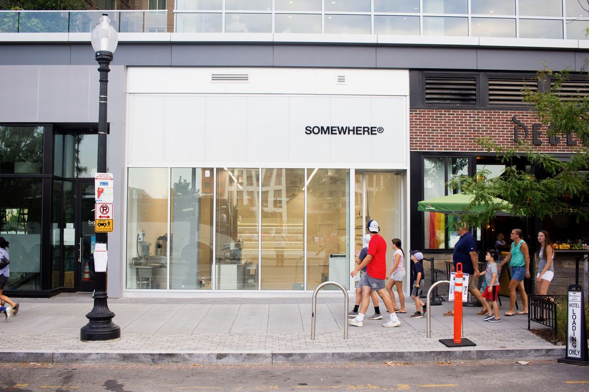 The storefront at Somewhere.