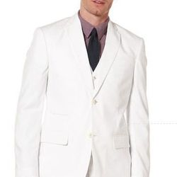 """This <a href=""""http://www.perryellis.com/blazer-and-outerwear/linen-cotton-suit-jacket/42HJ7452PS.html?mr%3AtrackingCode=2FBA3F80-635F-E211-8683-"""">Linen Cotton Suit Jacket</a> ($79.99) from Perry Ellis is lightweight and has a polka dot lining. #score"""