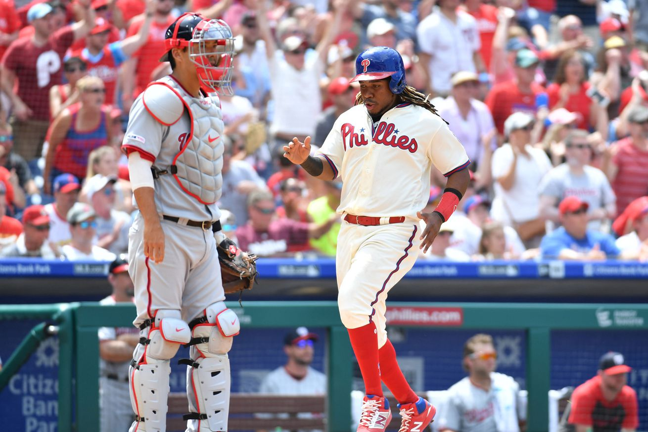 Washington Nationals rally late, but drop finale with Philadelphia Phillies on walk-off home run by Maikel Franco, 4-3 final.