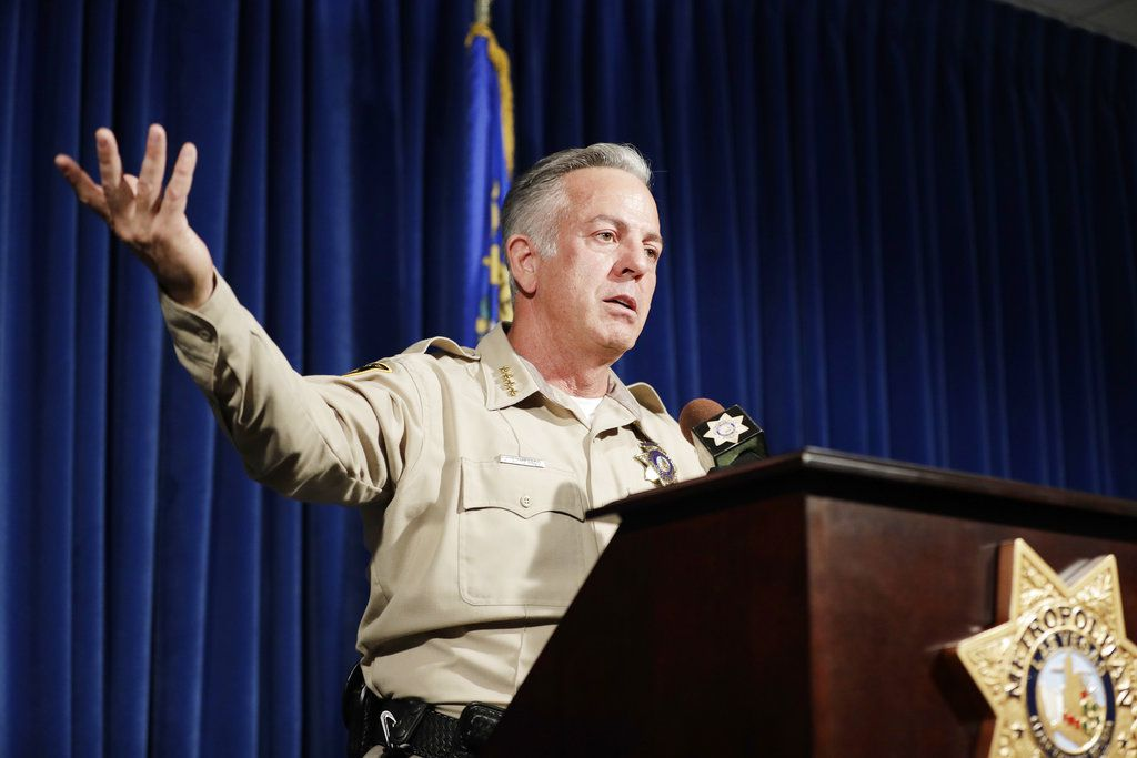 Clark County Sheriff Joe Lombardo  says authorities are closing their investigation without answering the key question: What drove a gunman to unleash a hail of gunfire that killed 58 people and wounded hundreds more? | AP Photo