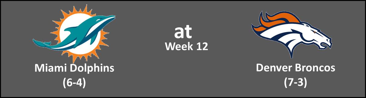 Week 12 - MIA at DEN