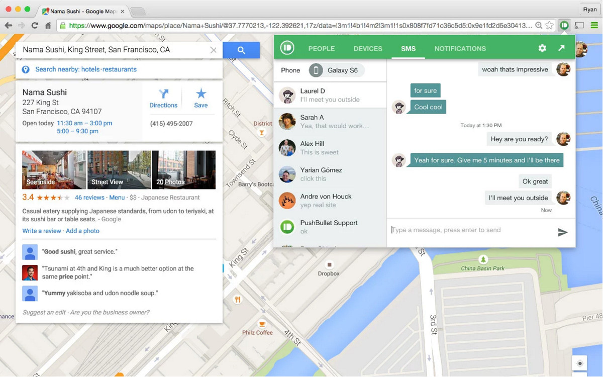 pushbullet chrome extension-weekend-pushbullet