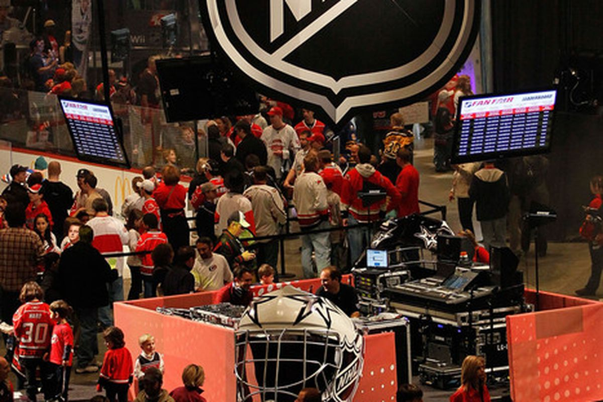 RALEIGH NC - JANUARY 28:  A general view inside the NHL Fan Fair part of 2011 NHL All-Star Weekend at the Raleigh Convention Center on January 28 2011 in Raleigh North Carolina.  (Photo by Kevin C. Cox/Getty Images)