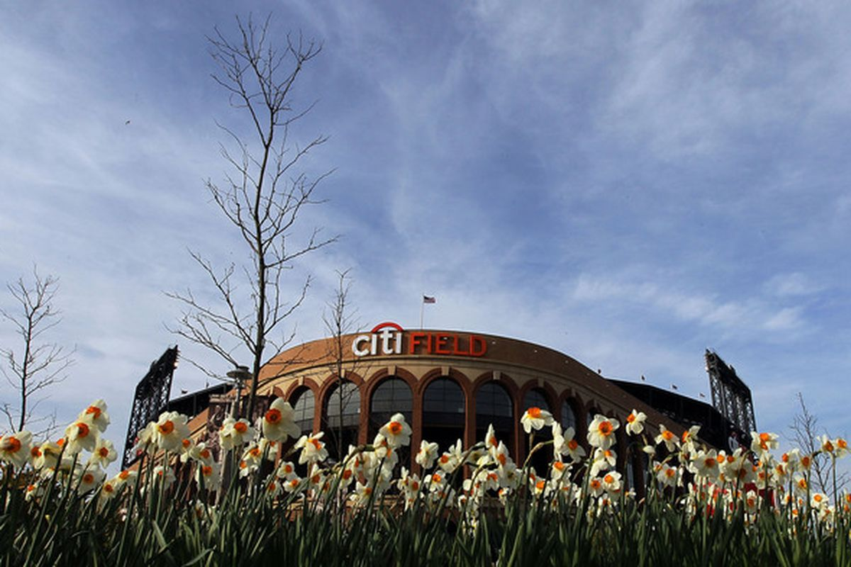 NEW YORK - APRIL 07:  A general view of Citi Field prior to the New York Mets game against the Florida Marlins on April 7, 2010 in the Flushing neighborhood of the Queens borough of New York City.  (Photo by Jim McIsaac/Getty Images)