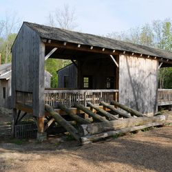 The rebuilt sawmill is in Historic Kirtland Village.