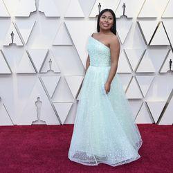 Yalitza Aparicio arrives at the Oscars on Sunday, Feb. 24, 2019. | Richard Shotwell/Invision/AP