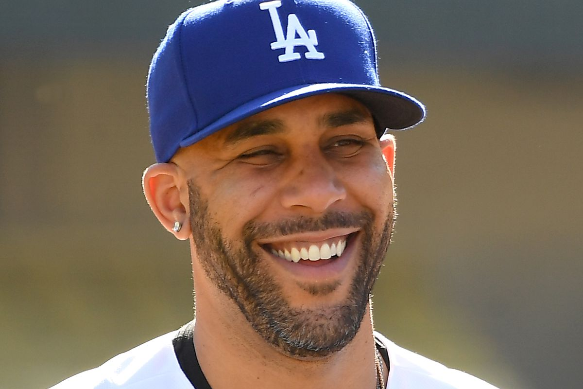 David Price of the Los Angeles Dodgers answers questions from the media during a news conference at Dodger Stadium on February 12, 2020 in Los Angeles, California.