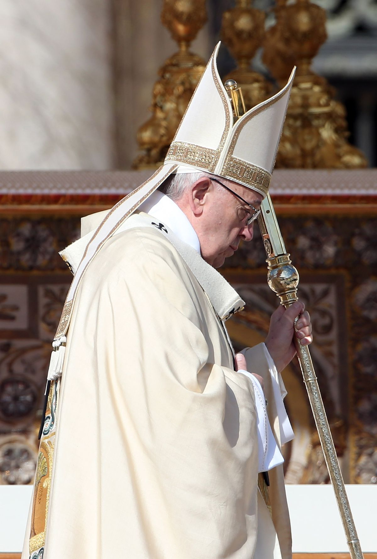 Pope Francis Attends The Easter Mass and Delivers His Urbi Et Orbi Blessing