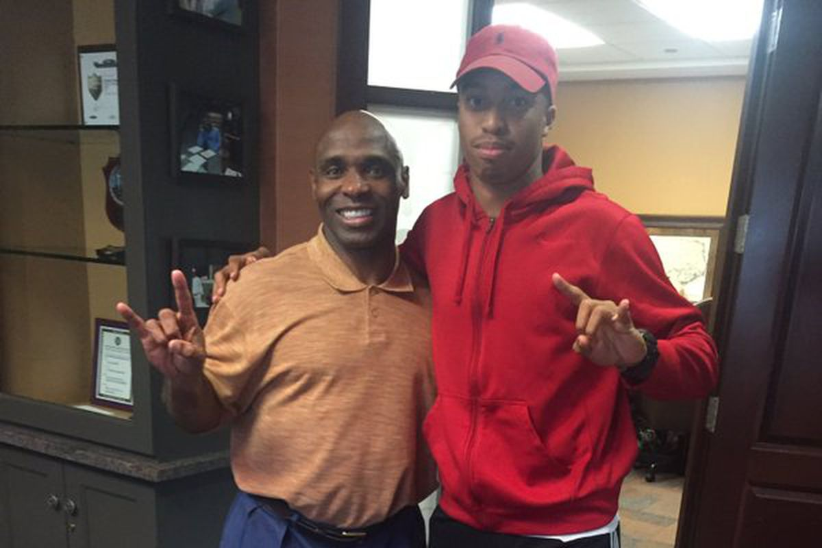 Mannie Netherly with Charlie Strong