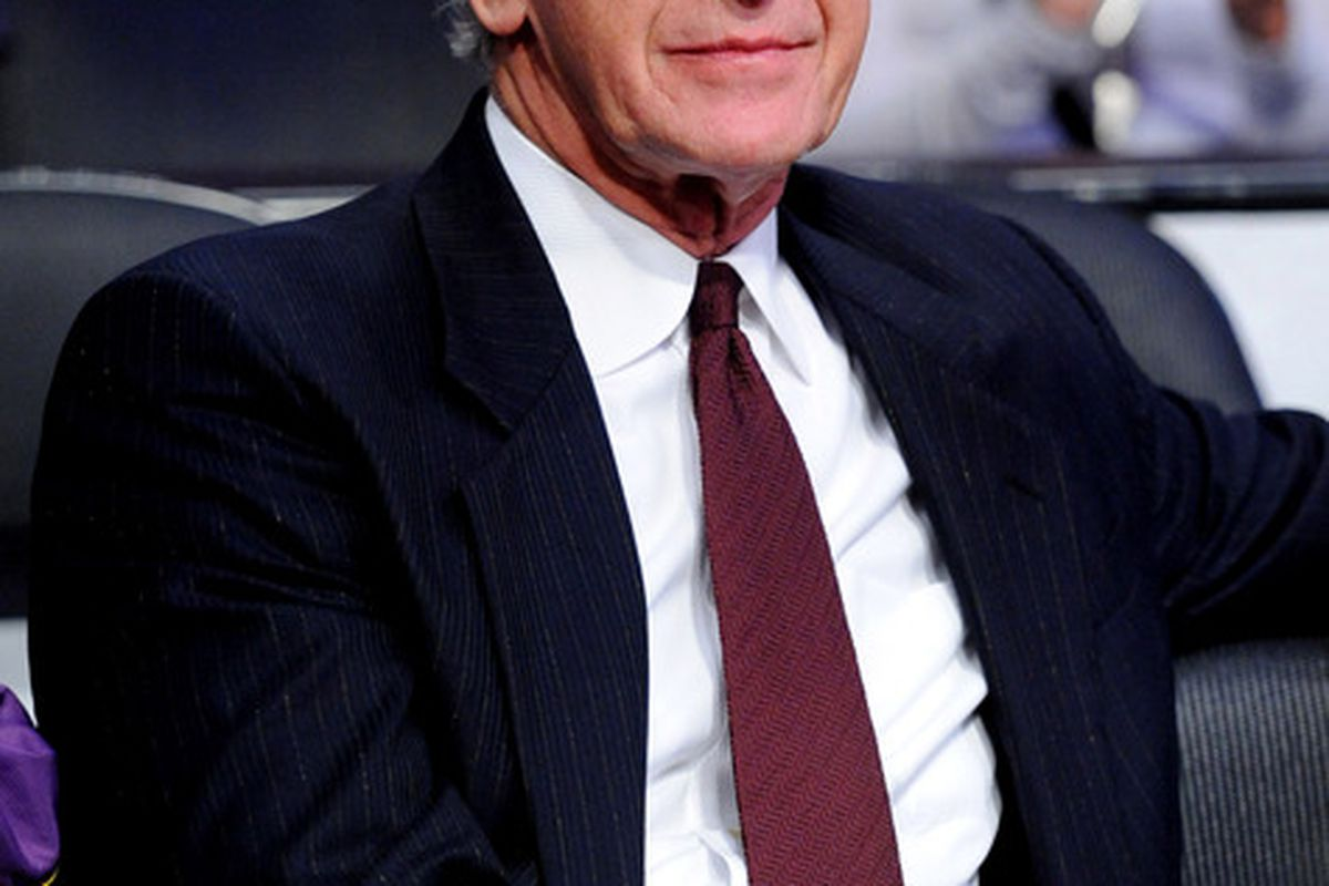 April 6, 2012; Los Angeles, CA, USA;   Pat Riley in attendance at the game between the Los Angeles Lakers and the Houston Rockets at the Staples Center. Mandatory Credit: Jayne Kamin-Oncea-US PRESSWIRE