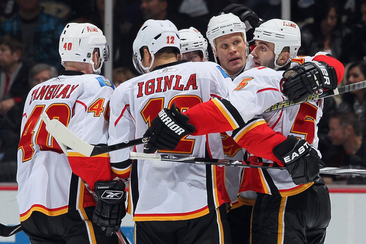 Three of the Flames pictured here were in the top 5 in 5 NHL rankings. Can you name those categories?