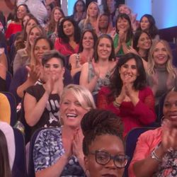 A photo of the crowd at the Ellen Show.