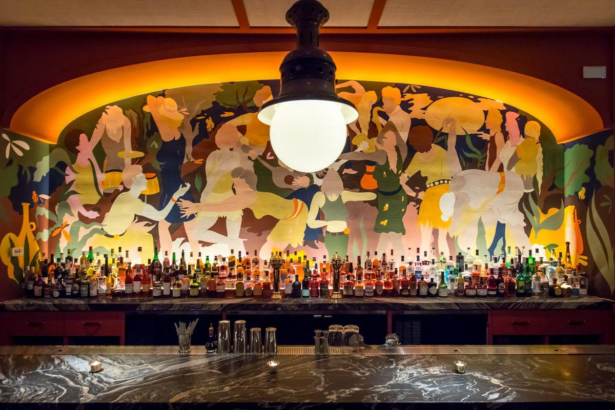 The upstairs bar at Legacy Records