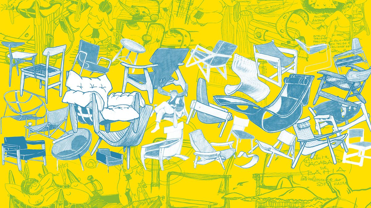 Illustrated history of Brazilian chair designs Srgio Rodrigues for R &  Company