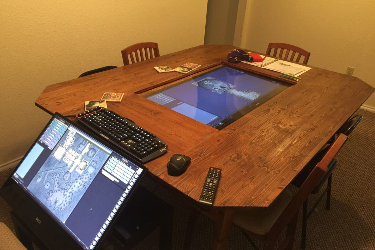 d d group builds custom digital tabletop with 4k touchscreen polygon