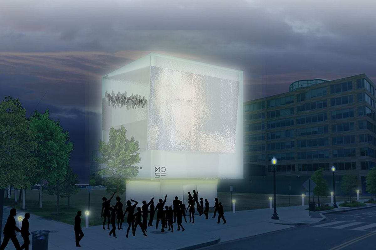 Sci-Fi museum rendering.