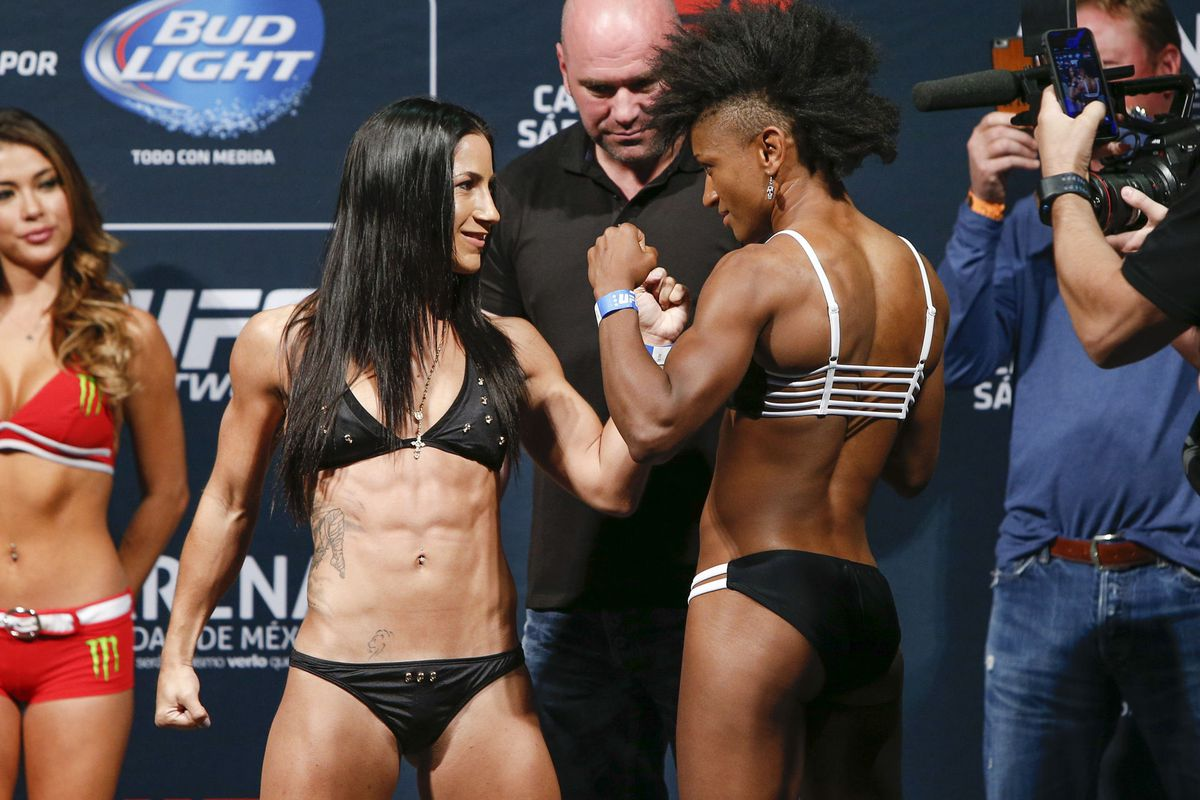 Tecia Torres and Angela Hill will compete on the UFC 188 main card Saturday.