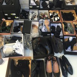 Shoes galore! These were the best part of the sale