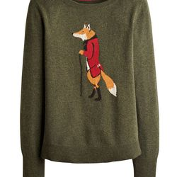 """<a href=""""http://www.saddlesource.com/r376-46.html"""">Joules Marsha Fox Sweater</a>, $114.99 at Rick's Heritage Saddlery in West Chester"""