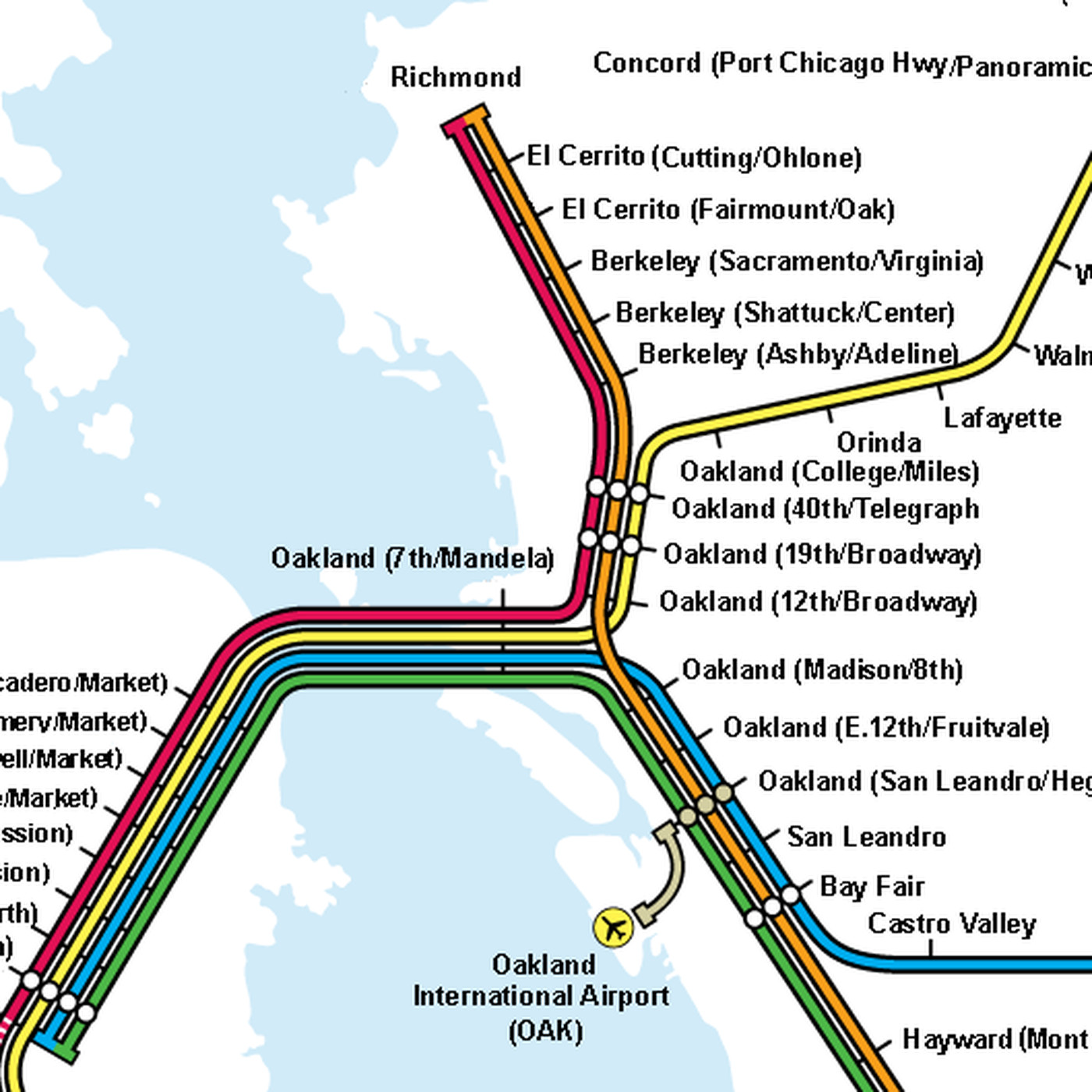 Trying to build a better BART map - Curbed SF on atlanta bart map, sacramento bart map, bart bus map, berkeley bart map, original bart map, walnut creek bart map, bay area bart map, bart system map, oakland bart map, richmond bart map, california bart map, bart muni map, bart station map, pleasanton bart map, east bay bart map, future bart map, bart sfo airport map, los angeles bart map, pittsburgh bart map, dallas bart map,