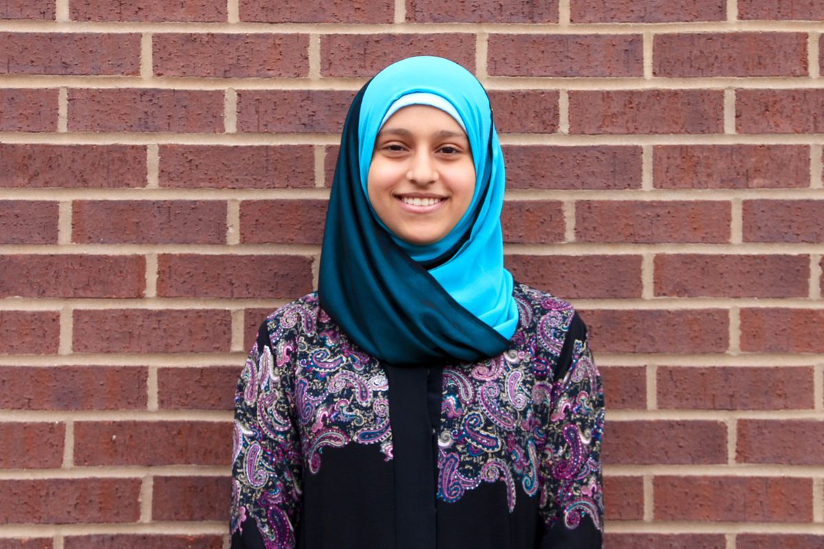 Amal Altareb, 16, is a student leader at Central High School.